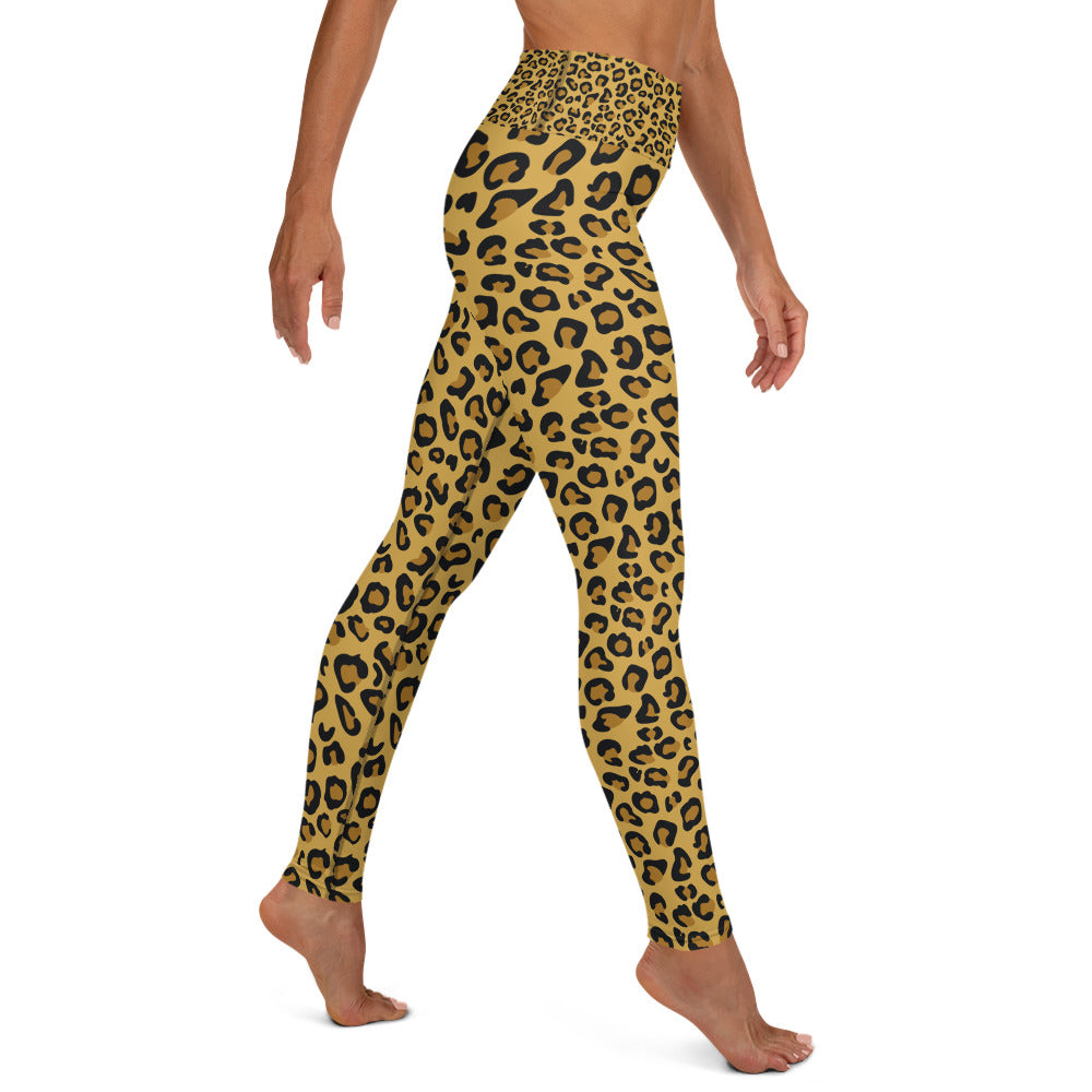 Leopard Skin Yoga Full Length Leggings