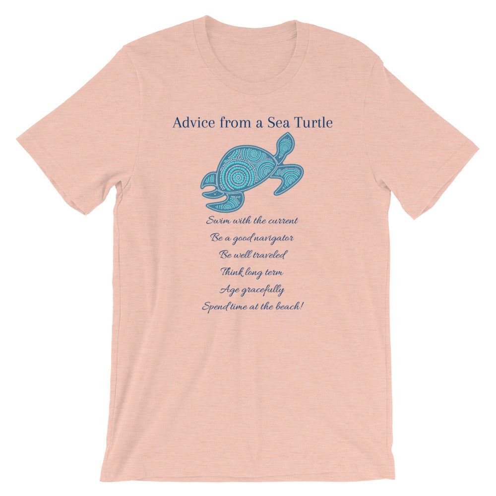 """Advice from a Sea Turtle"" Cotton T-Shirt"