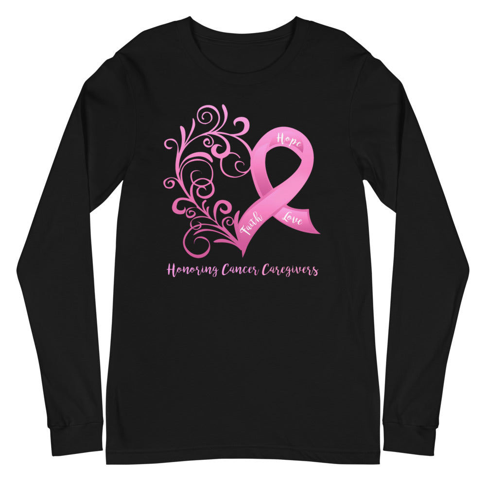 Honoring Cancer Caregivers Long Sleeve Tee - Dark Colors