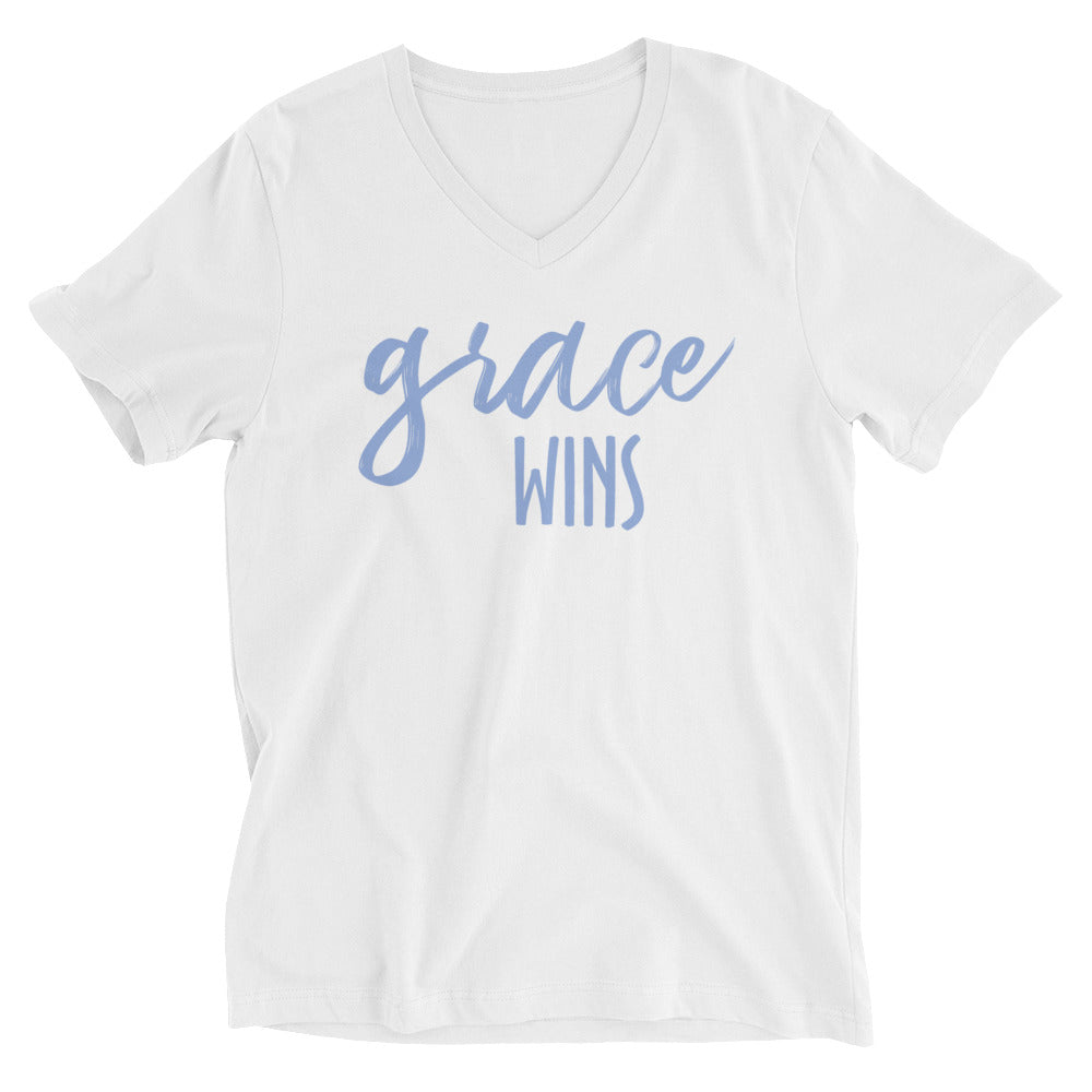 Grace Wins V-Neck Cotton T-Shirt