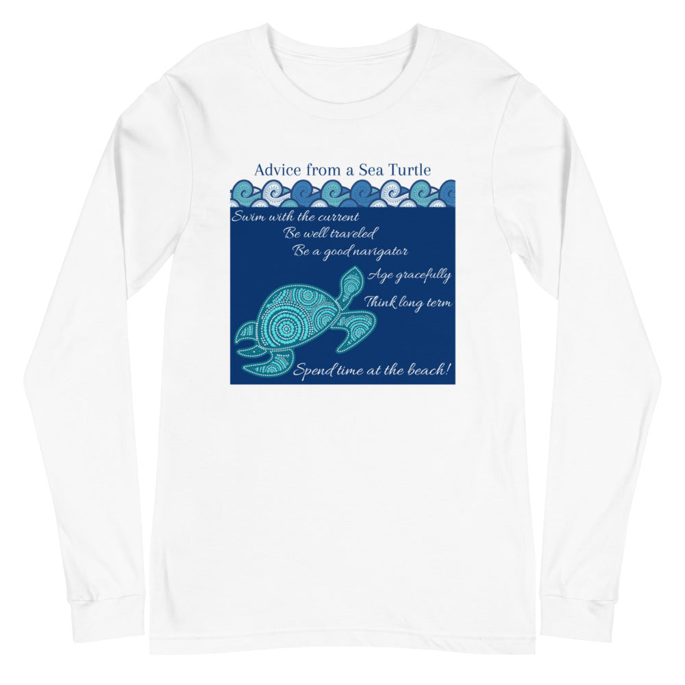 """Advice from a Sea Turtle"" Framed Design Long Sleeve Tee"