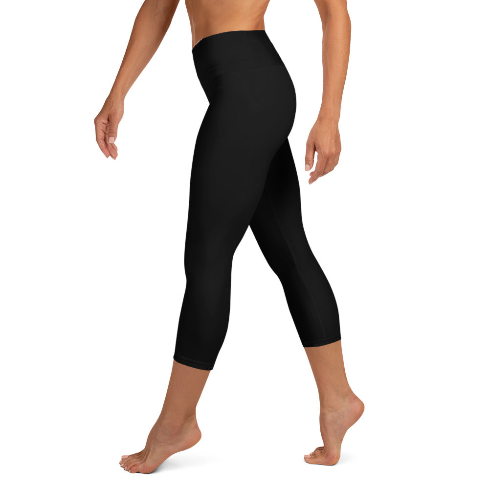 "Endometrial Cancer ""Survivor"" Yoga Capri Leggings (Black)"