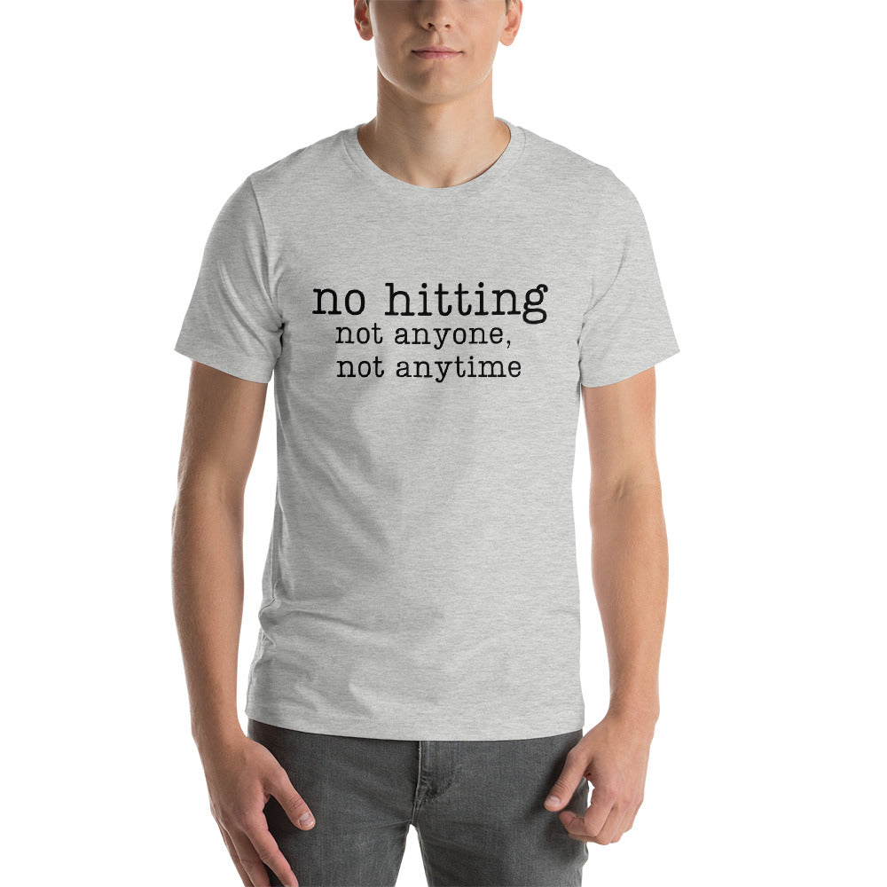 """no hitting"" Men's T-Shirt"