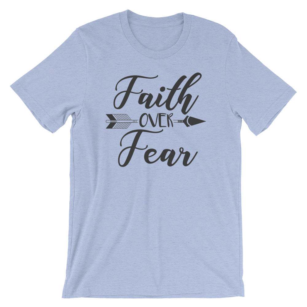 Faith Over Fear Arrow Cotton T-Shirt