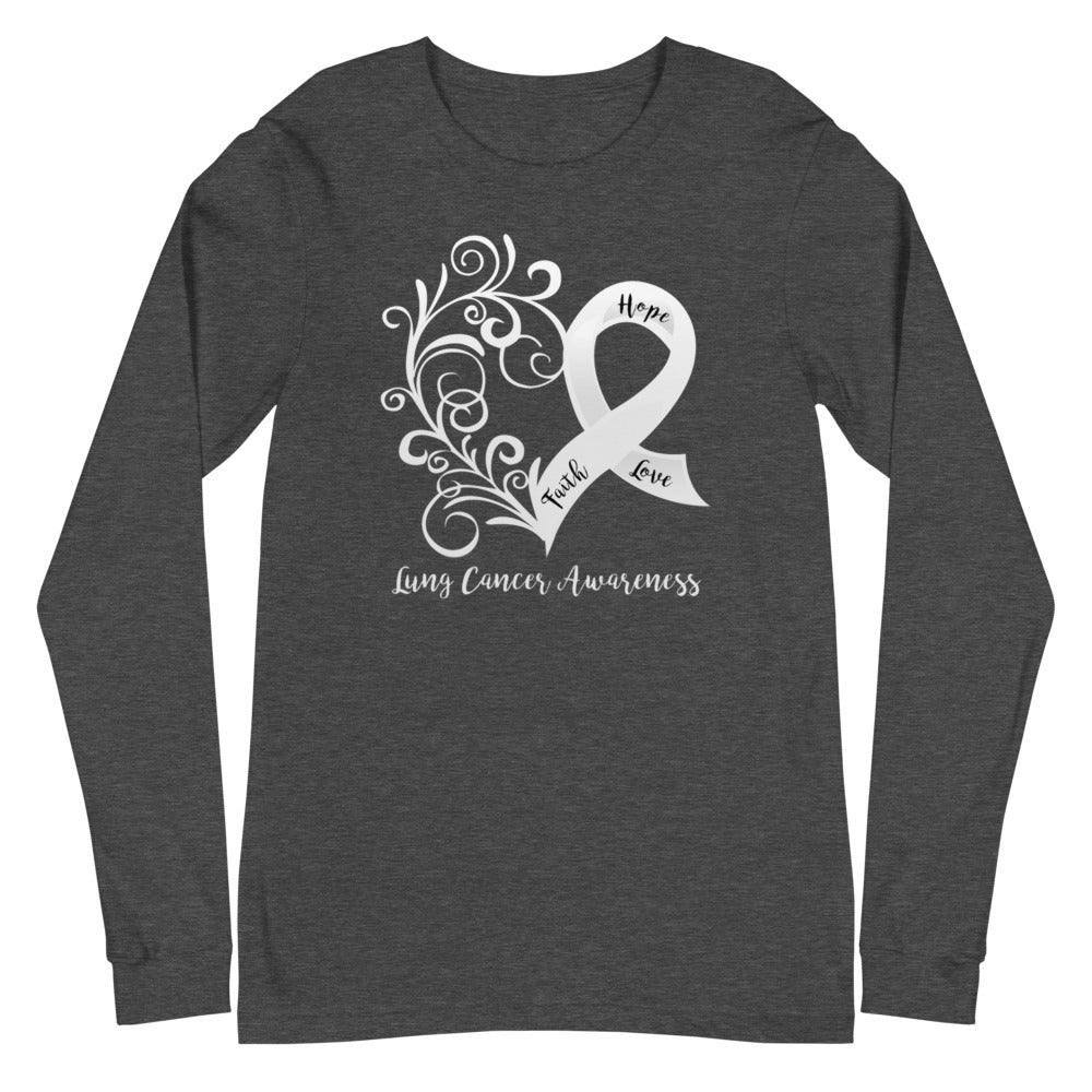 Lung Cancer Awareness Long Sleeve Tee - Dark Colors