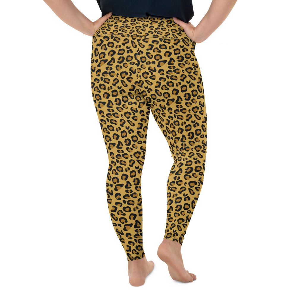 Leopard Skin Plus Size Leggings