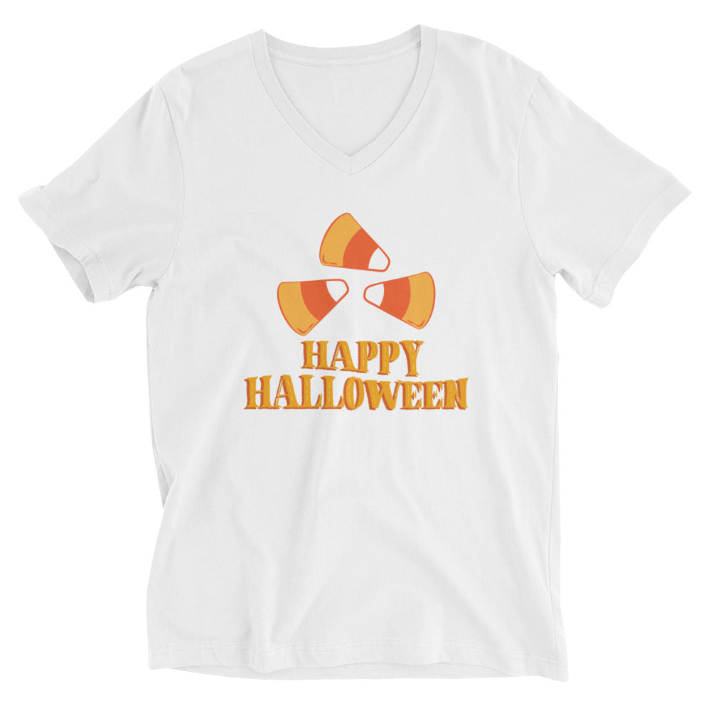 Happy Halloween Candy Corn V-Neck T-Shirt