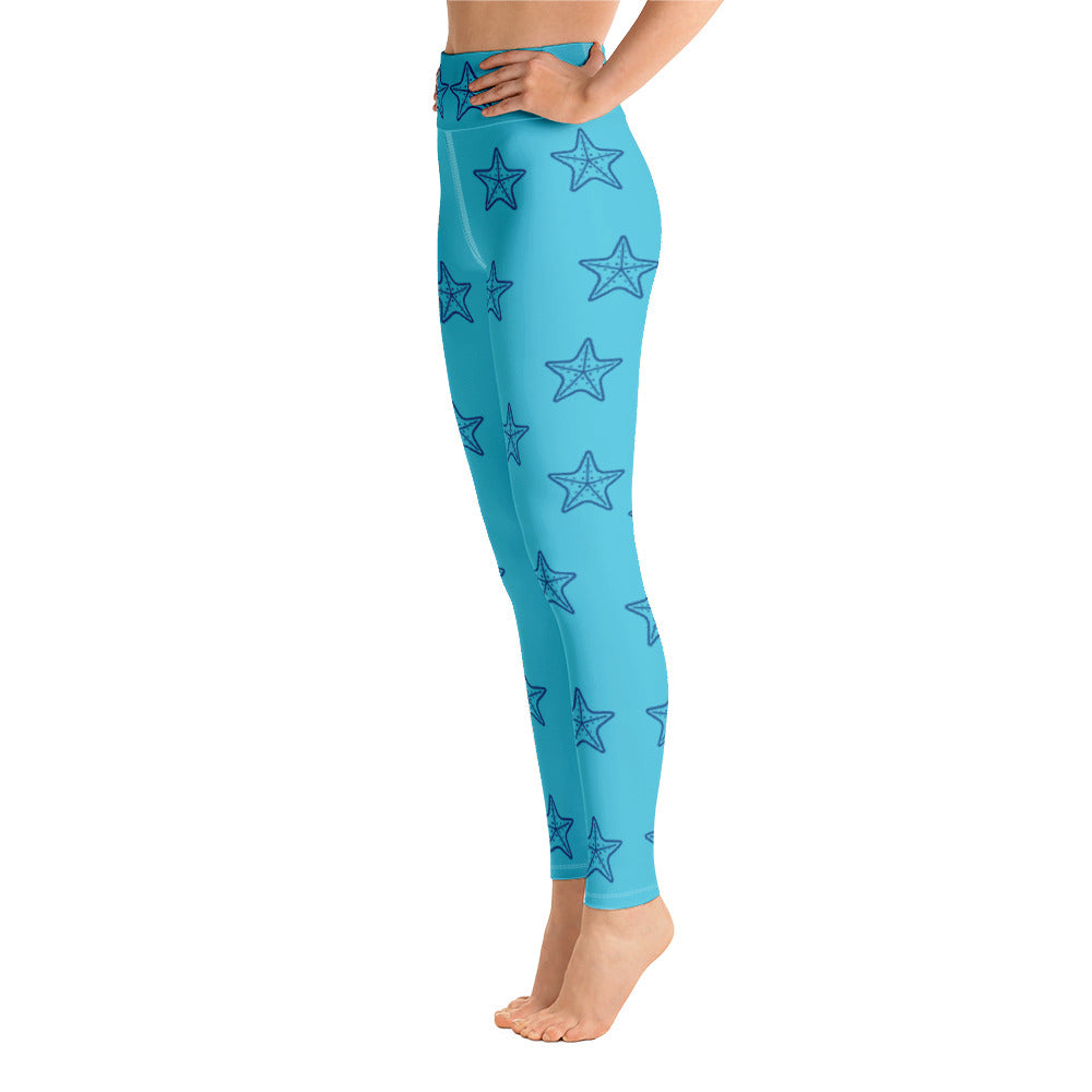 Starfish Yoga Full Length Leggings (Aqua)