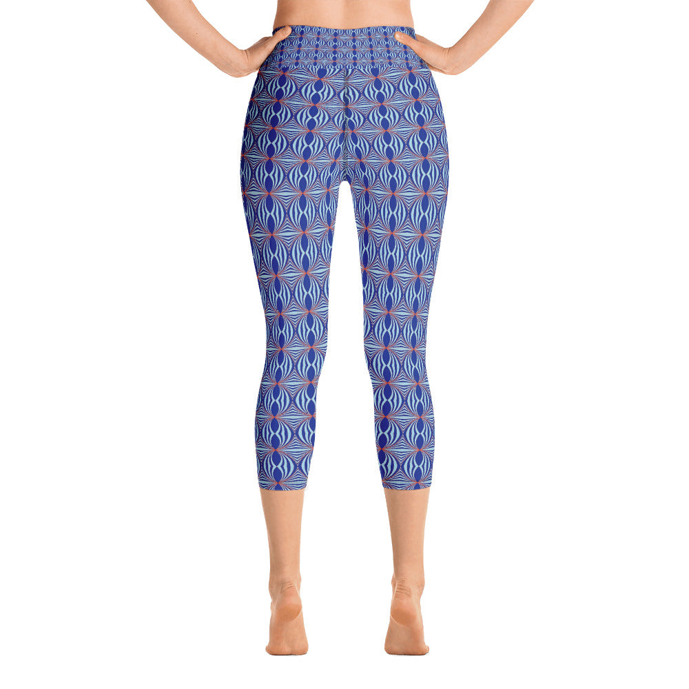 Art Deco Yoga Capri Leggings