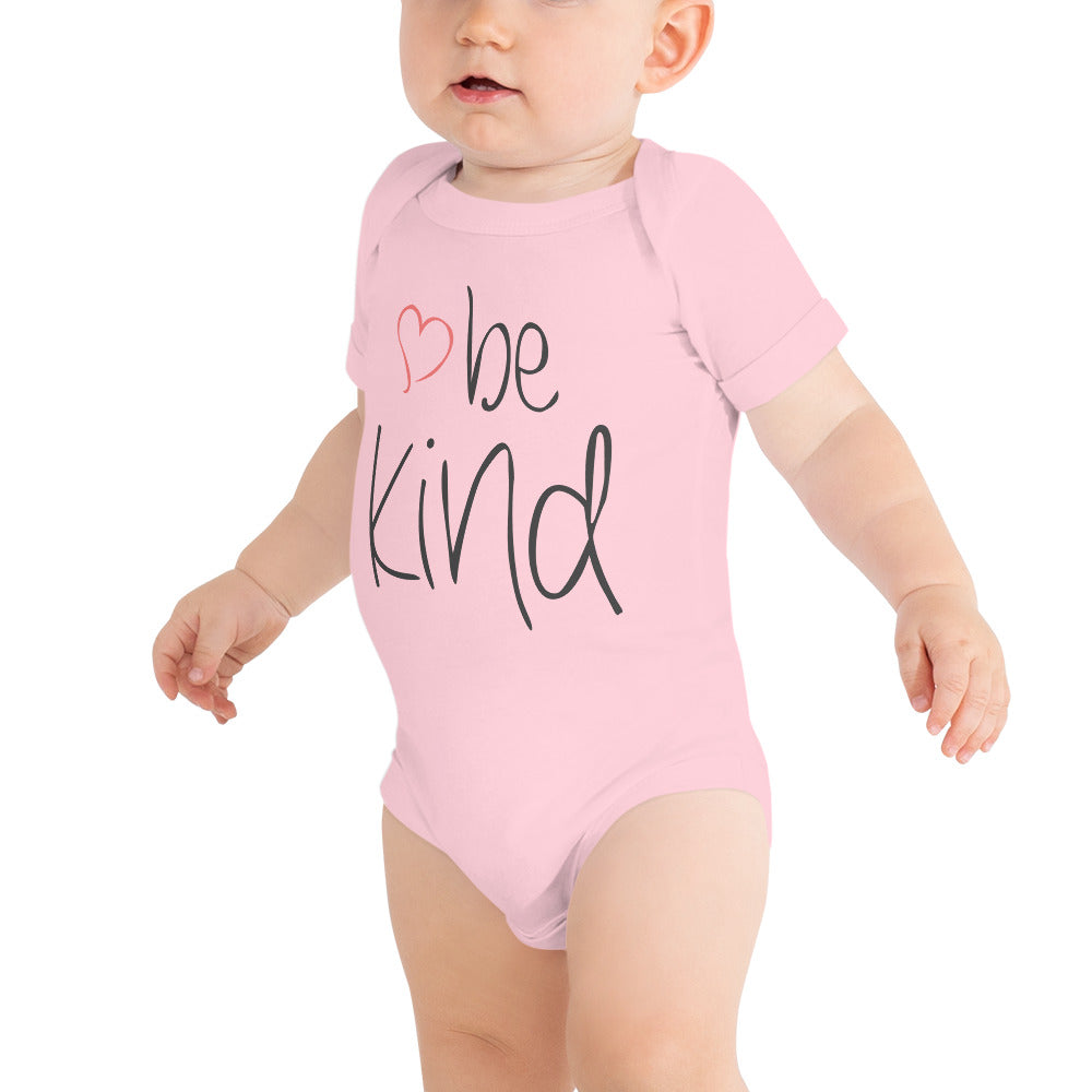 be kind Heart Baby Short Sleeve One-Piece