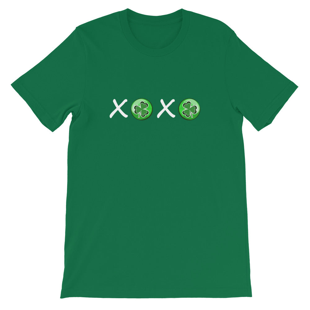 St. Patrick's Day XOXO Shamrock Kelly Green Cotton T-Shirt