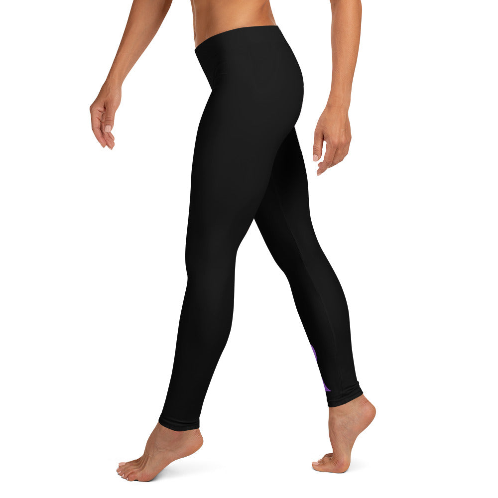 "Pancreatic Cancer ""Warrior"" Full Length Leggings (Black)"