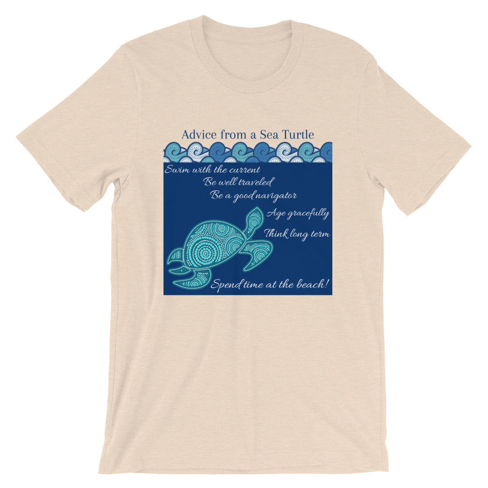 """Advice from a Sea Turtle"" Framed Design Cotton T-Shirt"
