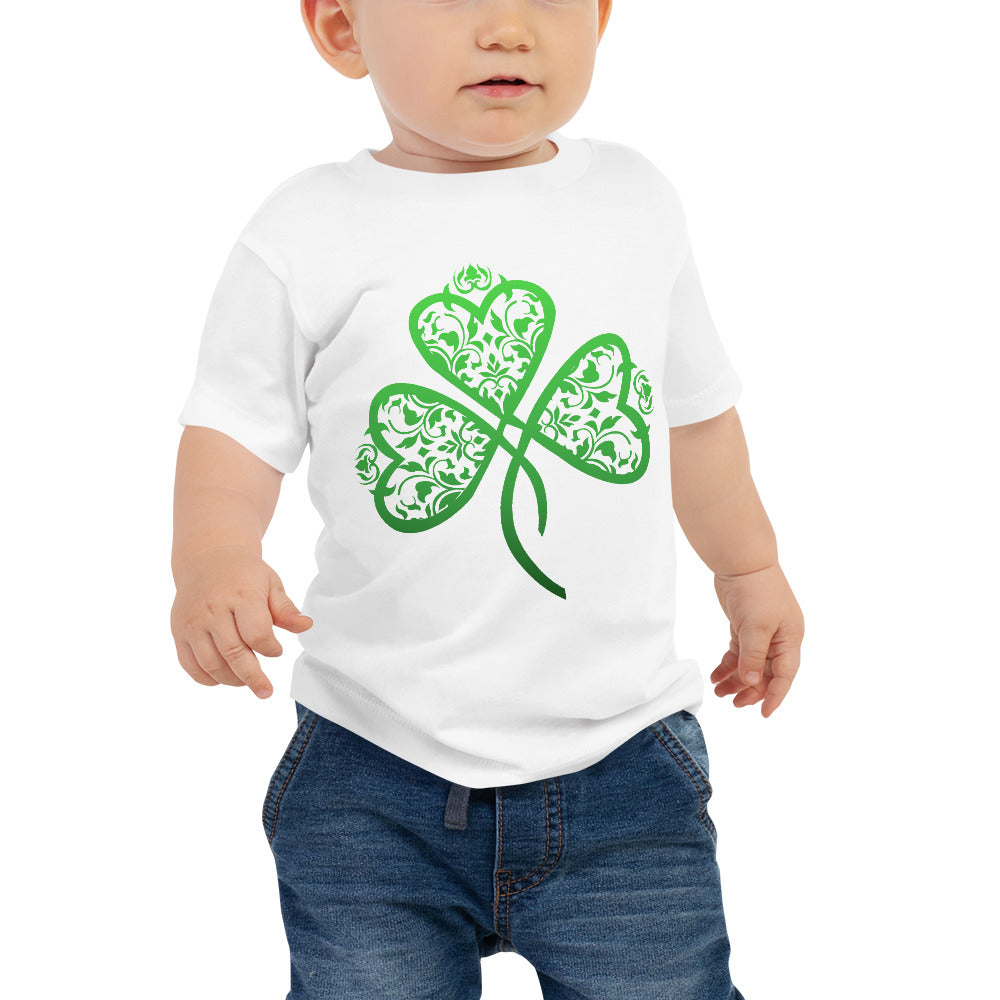 St. Patrick's Day Filigree Shamrock Baby Jersey Short Sleeve Tee