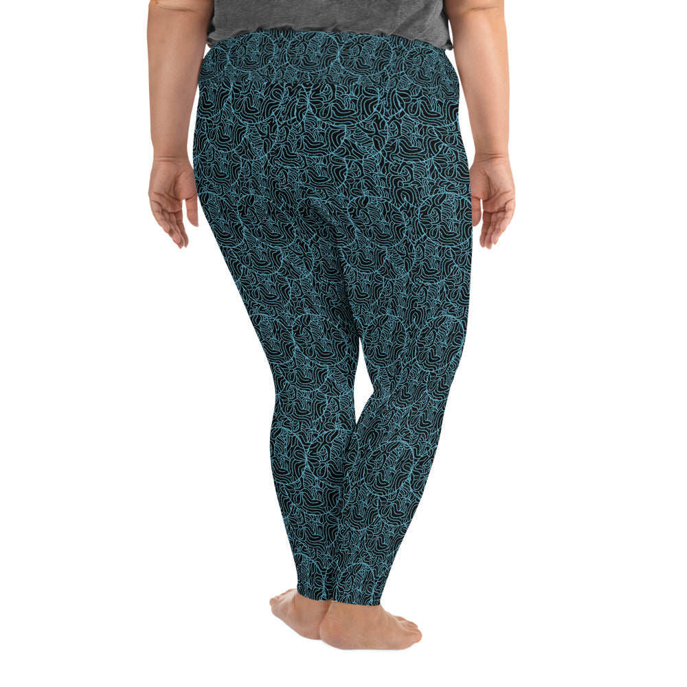Geometric Design Plus Size Leggings