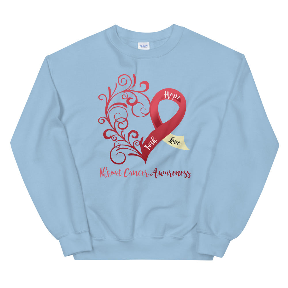 Throat Cancer Awareness Sweatshirt