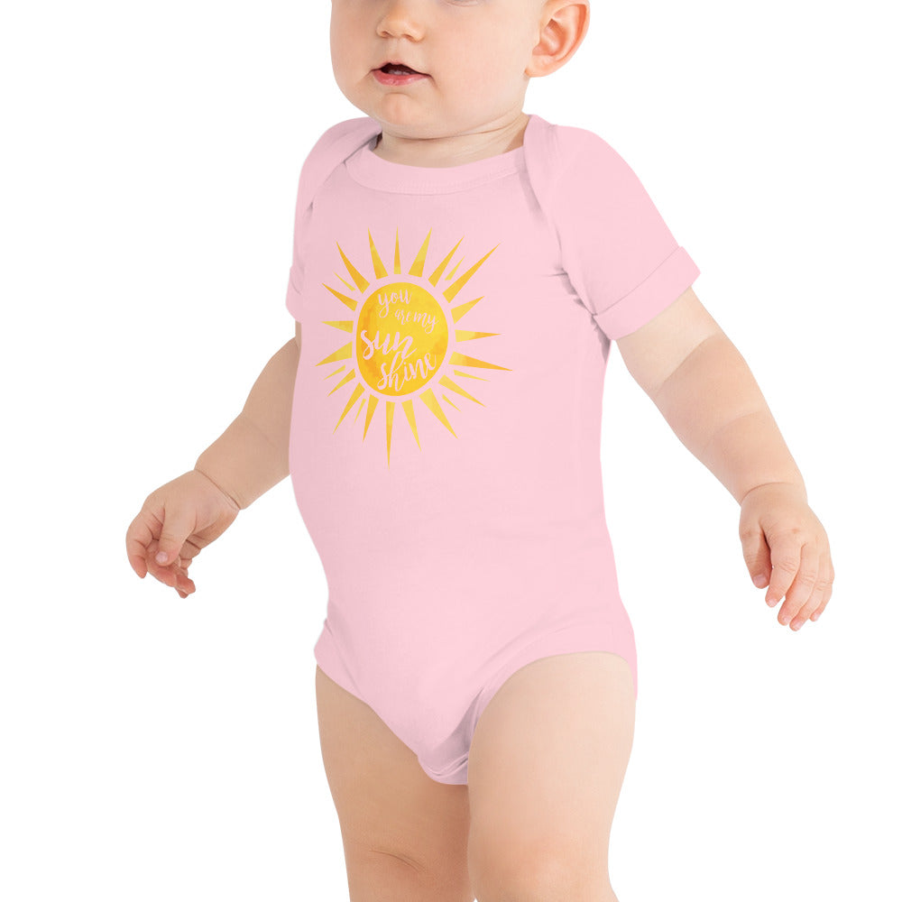 You Are My Sunshine Baby Short Sleeve One Piece