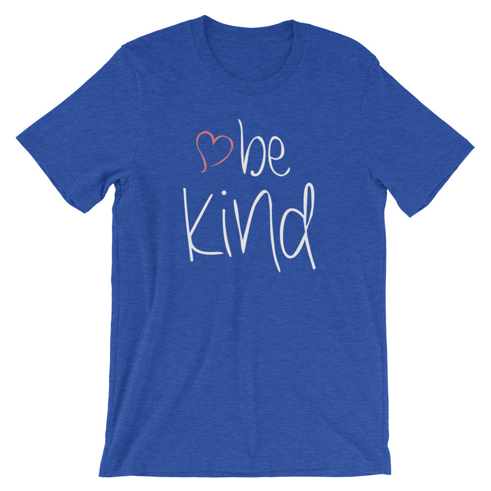 be kind Heart Cotton T-Shirt - Dark Colors