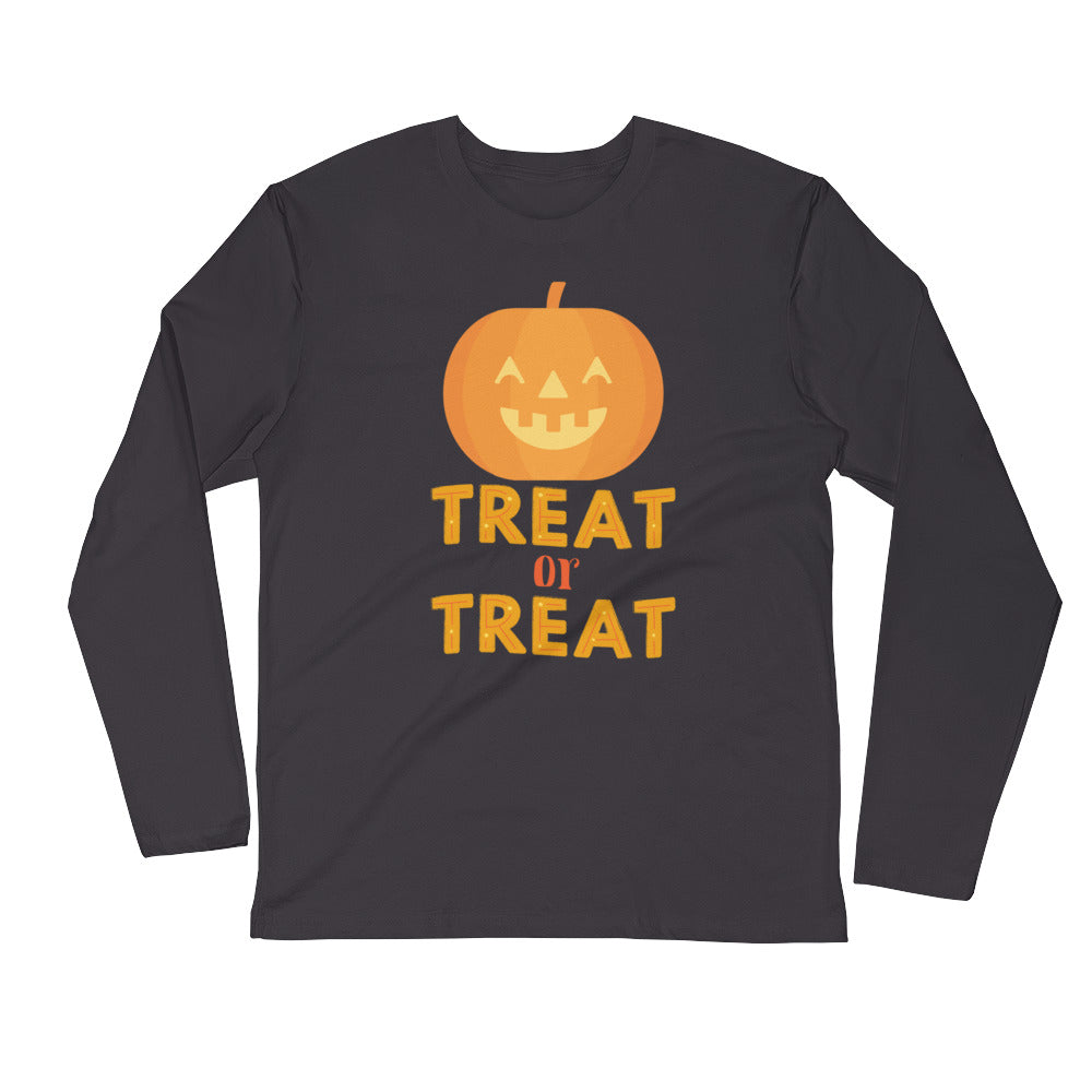 Treat or Treat Smiling Jack O' Lantern Long Sleeve T-Shirt