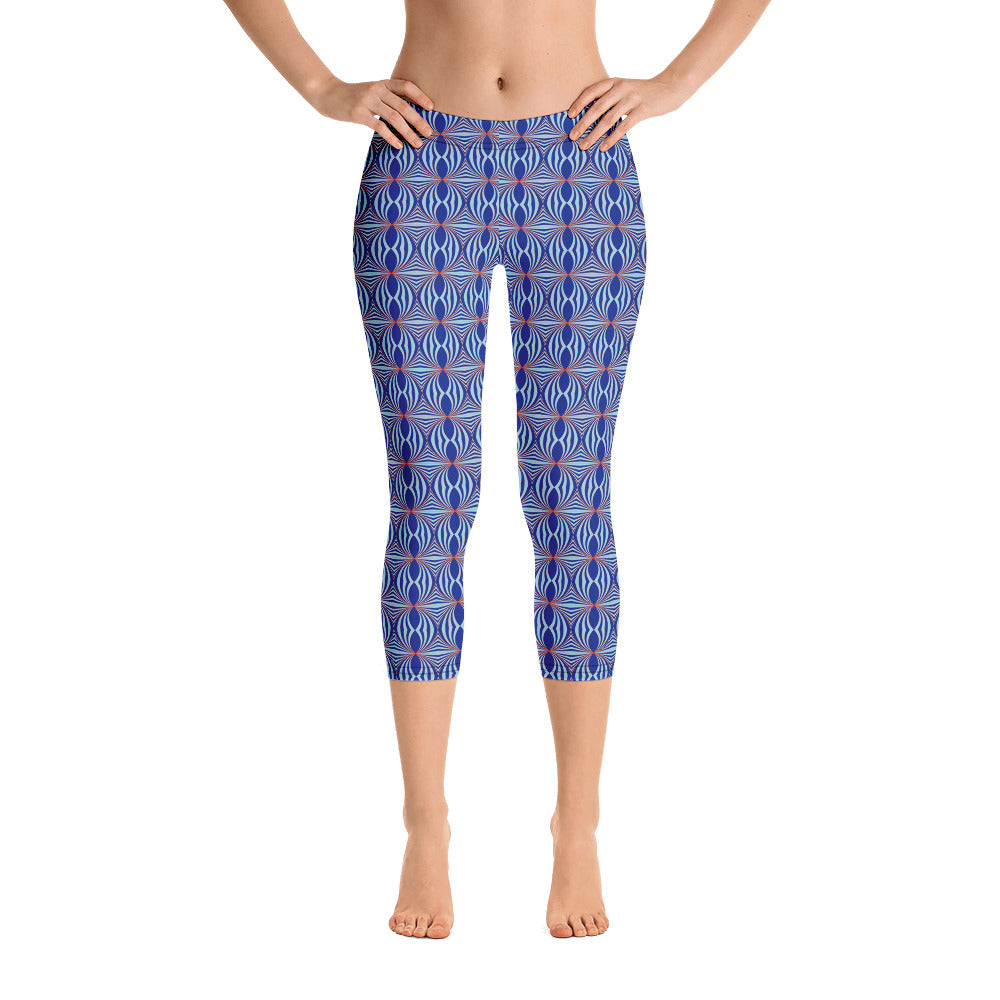 Art Deco Capri Leggings