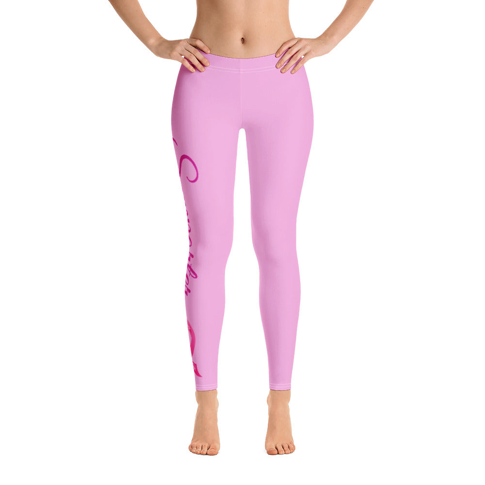 "Breast Cancer ""Supporter"" Full Length Leggings (Pink)"