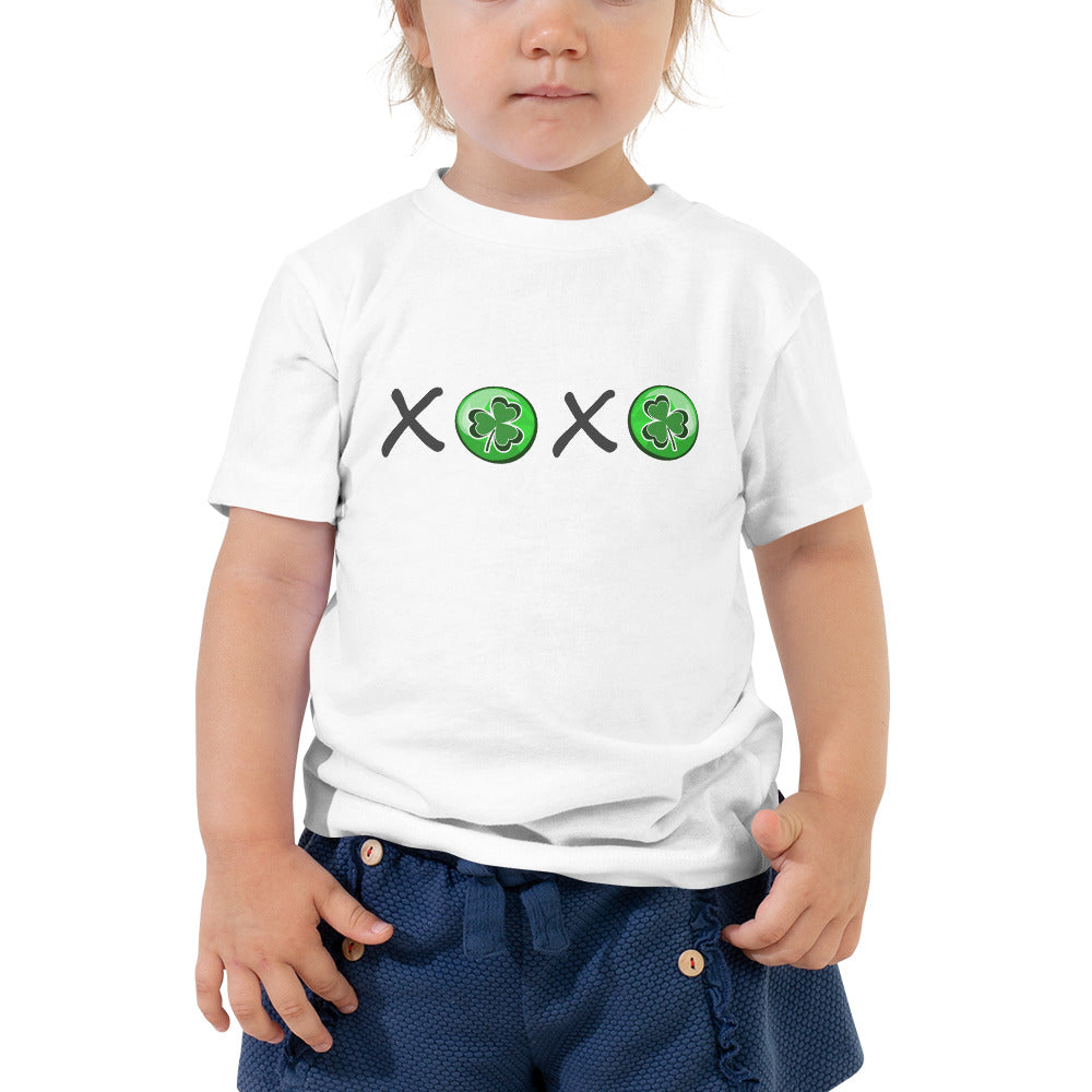 St. Patrick's Day XOXO Shamrocks Toddler Short Sleeve Tee