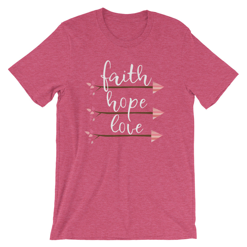Faith Hope Love Arrows | Mauve T-Shirt