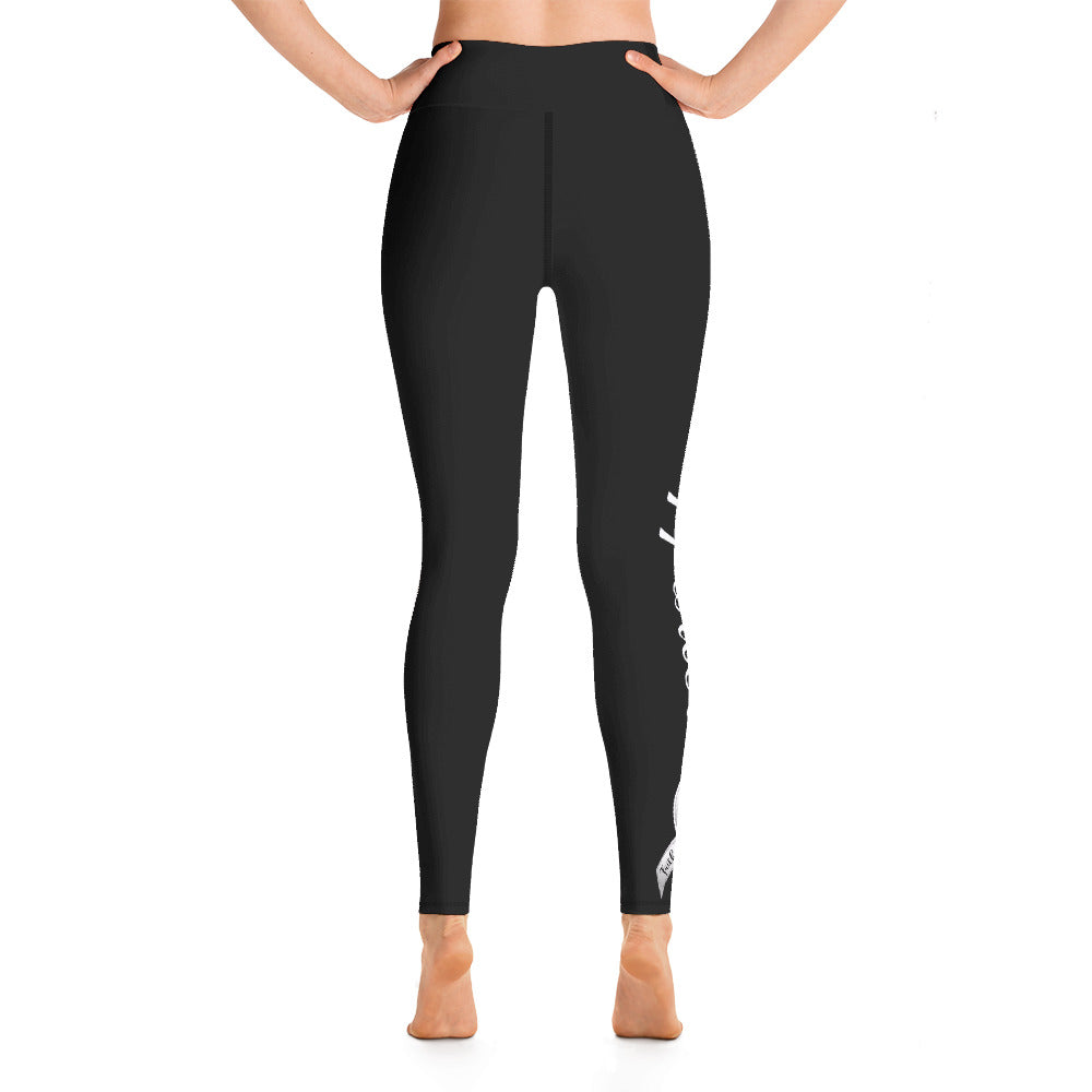 "Lung Cancer ""Supporter"" Yoga Full Length Leggings (Black)"