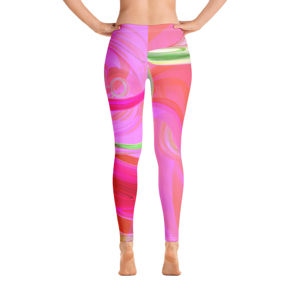 Pink Swirl Full Length Leggings