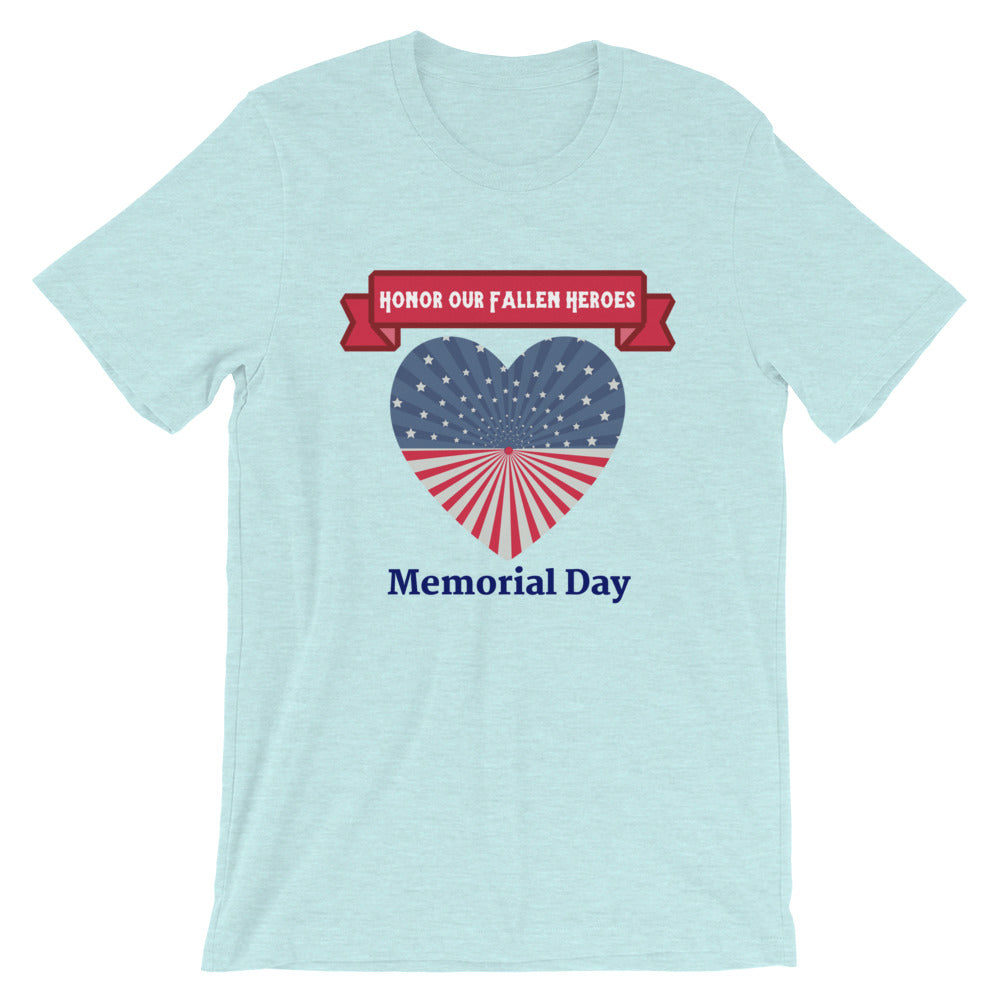 """Honor Our Fallen Heroes"" Memorial Day Cotton T-Shirt"