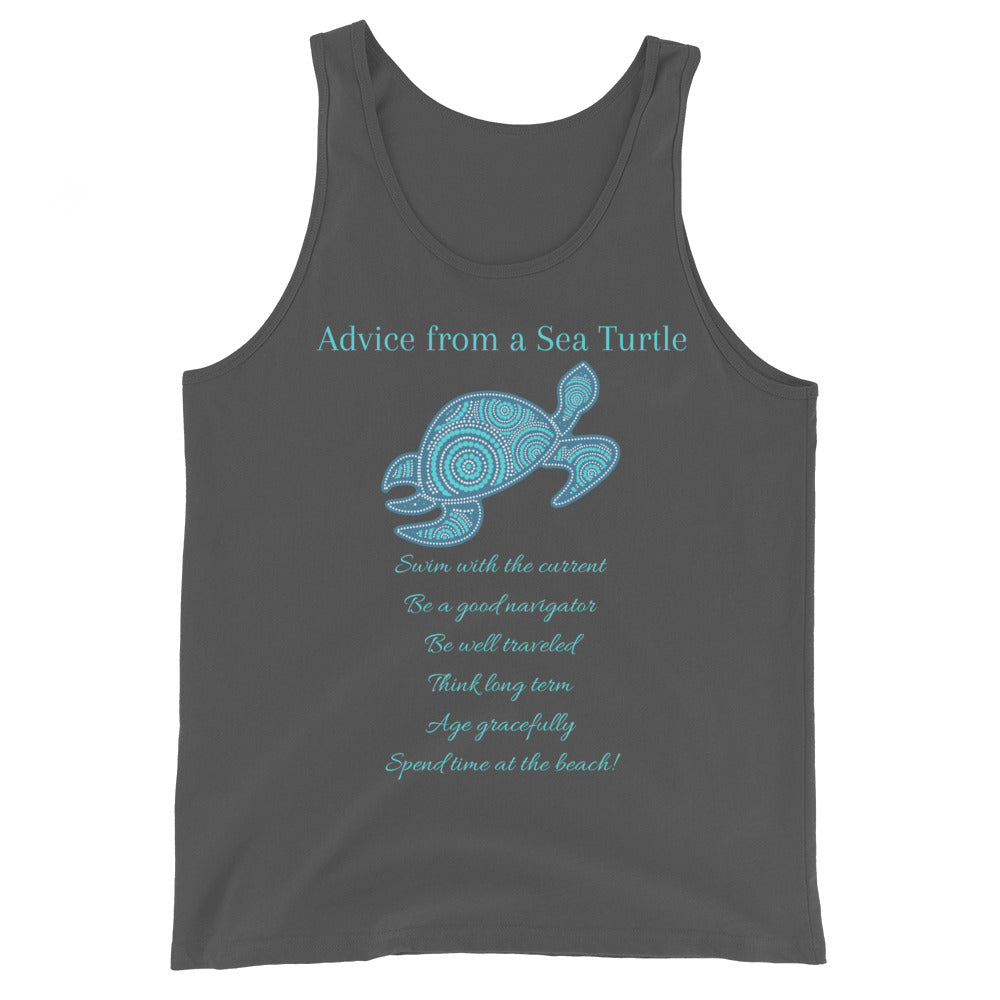 """Advice from a Sea Turtle"" Cotton Tank Top"