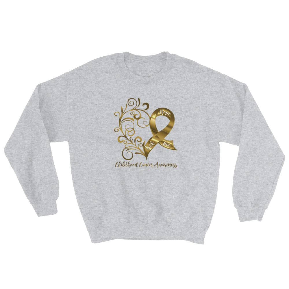Childhood Cancer Awareness Adult Sweatshirt