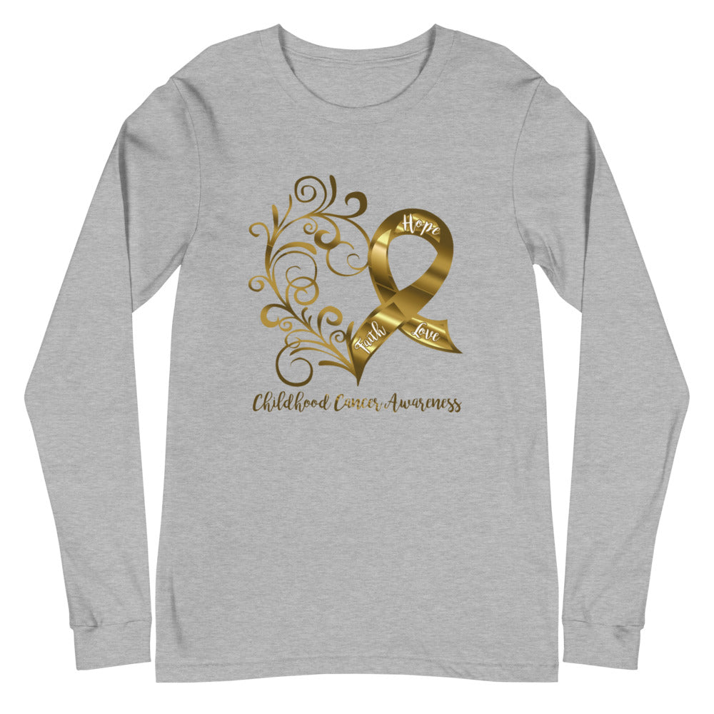 Childhood Cancer Awareness Adult Long Sleeve Tee