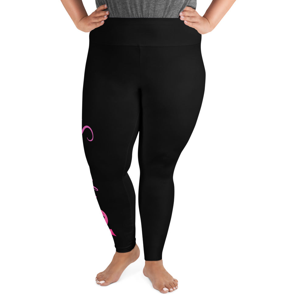 "Breast Cancer ""Supporter"" Plus Size Leggings (Black)"