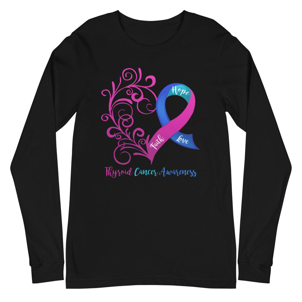 Thyroid Cancer Awareness Long Sleeve Tee