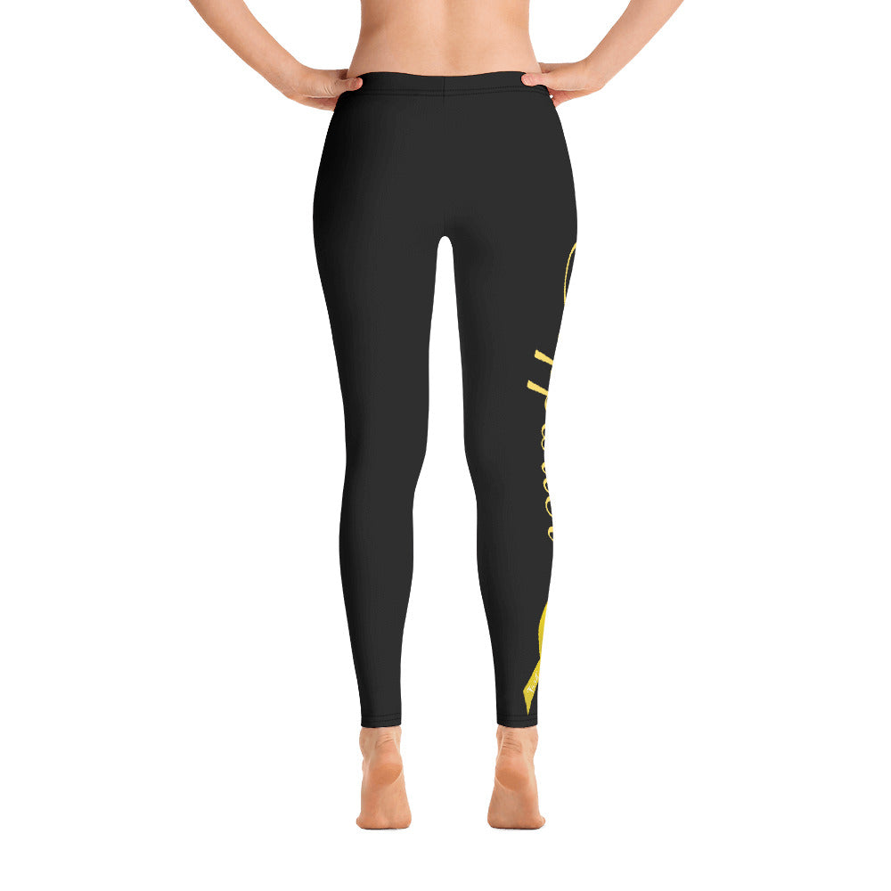 "Bone Cancer / Sarcoma ""Supporter"" Full Length Leggings (Black)"