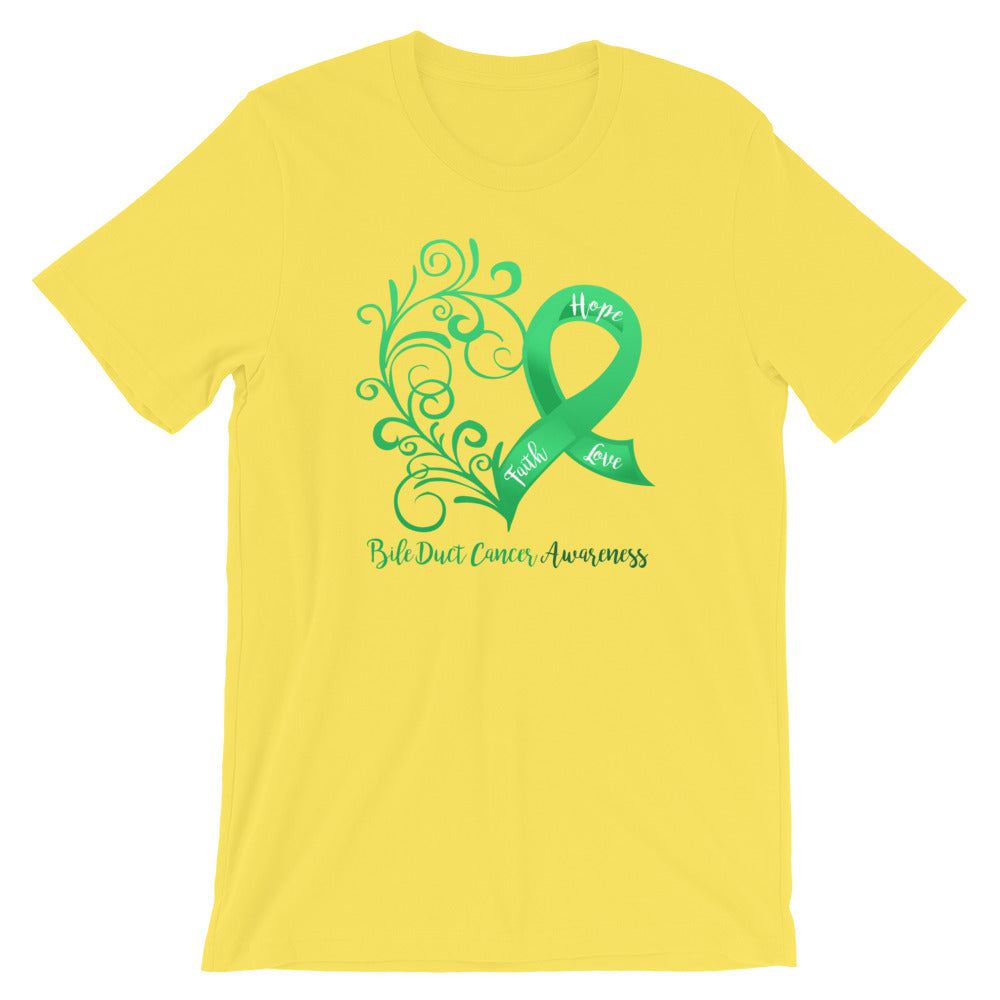 Bile Duct Cancer Awareness Cotton T-Shirt
