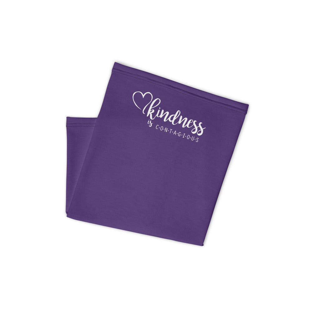 Kindness is Contagious Neck Gaiter / Face Covering (Purple) - (Quick Ship) - NON-RETURNABLE