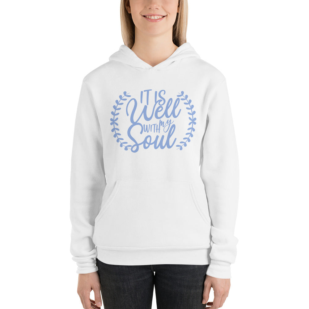 It Is Well With My Soul Blue Laurel Hoodie