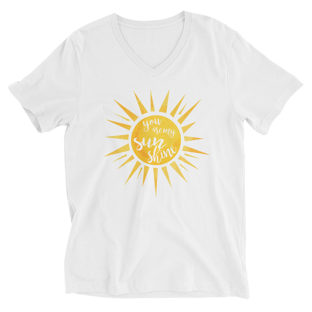 You Are My Sunshine Cotton V-Neck T-Shirt