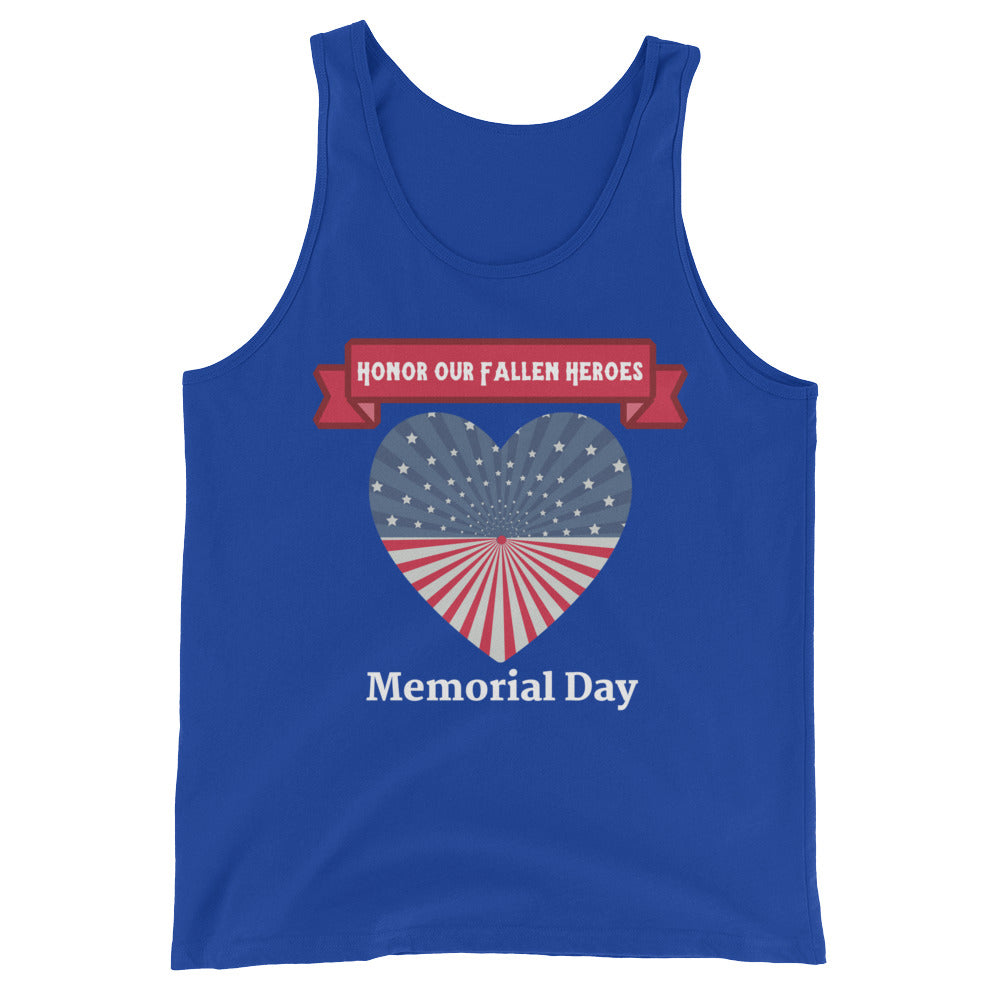 """Honor Our Fallen Heroes"" Memorial Day Cotton Tank Top"