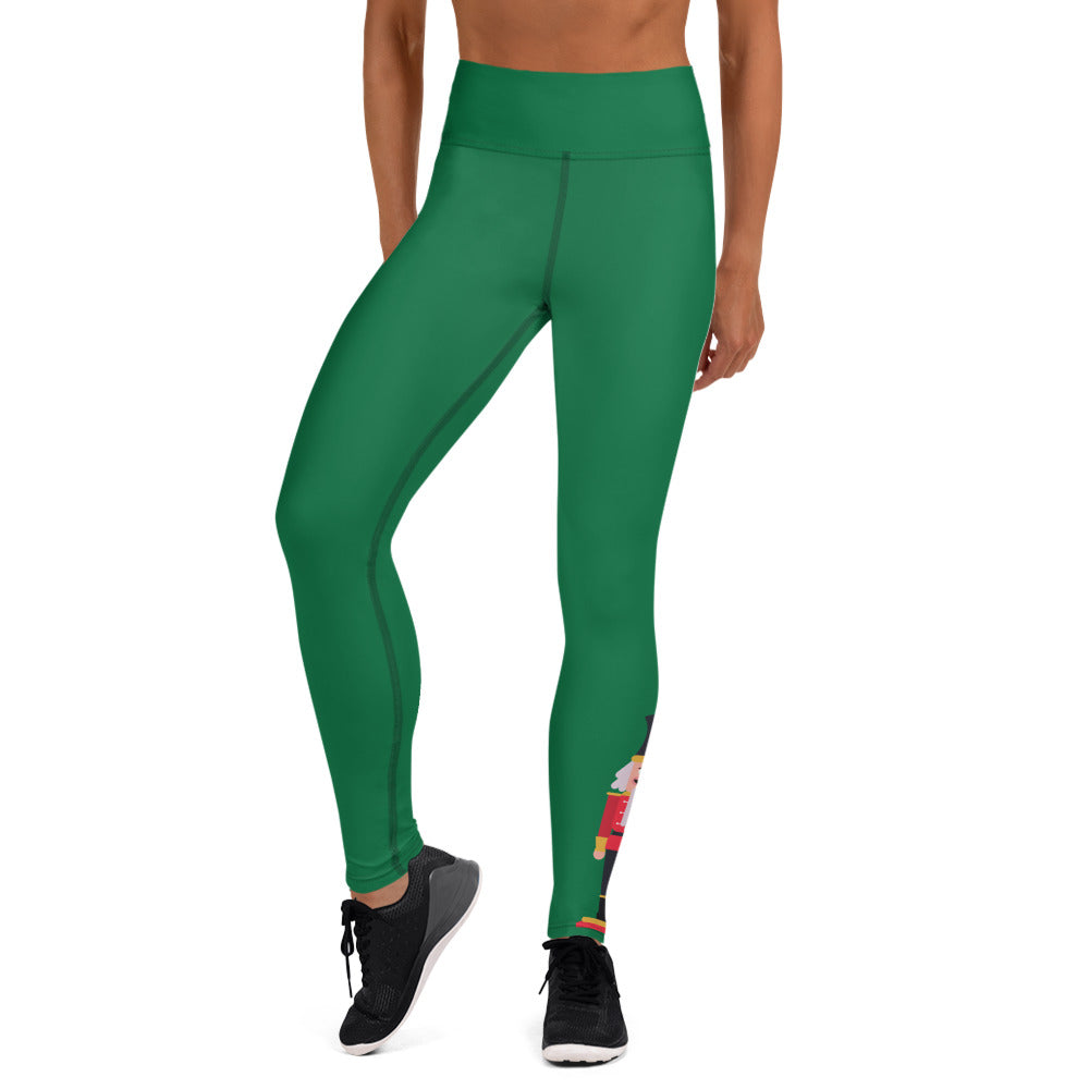 Nutcracker Yoga Full Length Leggings (Kelly Green)