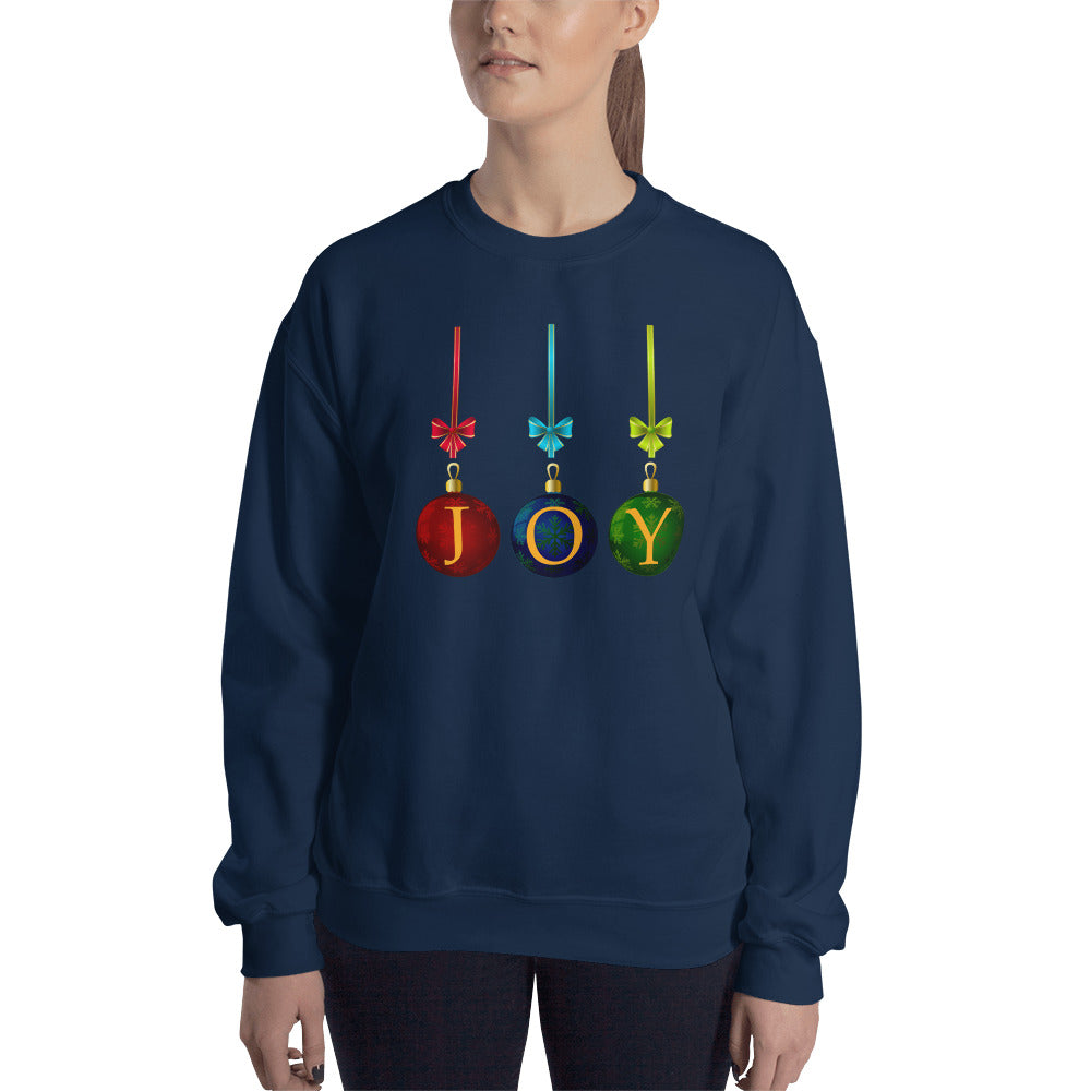 Joy Dark Ornament Sweatshirt
