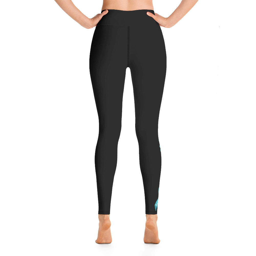 "Ovarian Cancer ""Warrior"" Yoga Full Length Leggings (Black)"