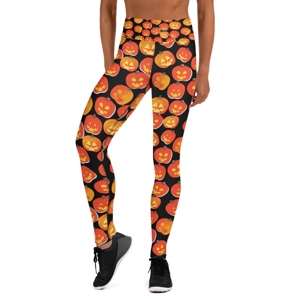 Jack O' Lantern Yoga Full Length Leggings