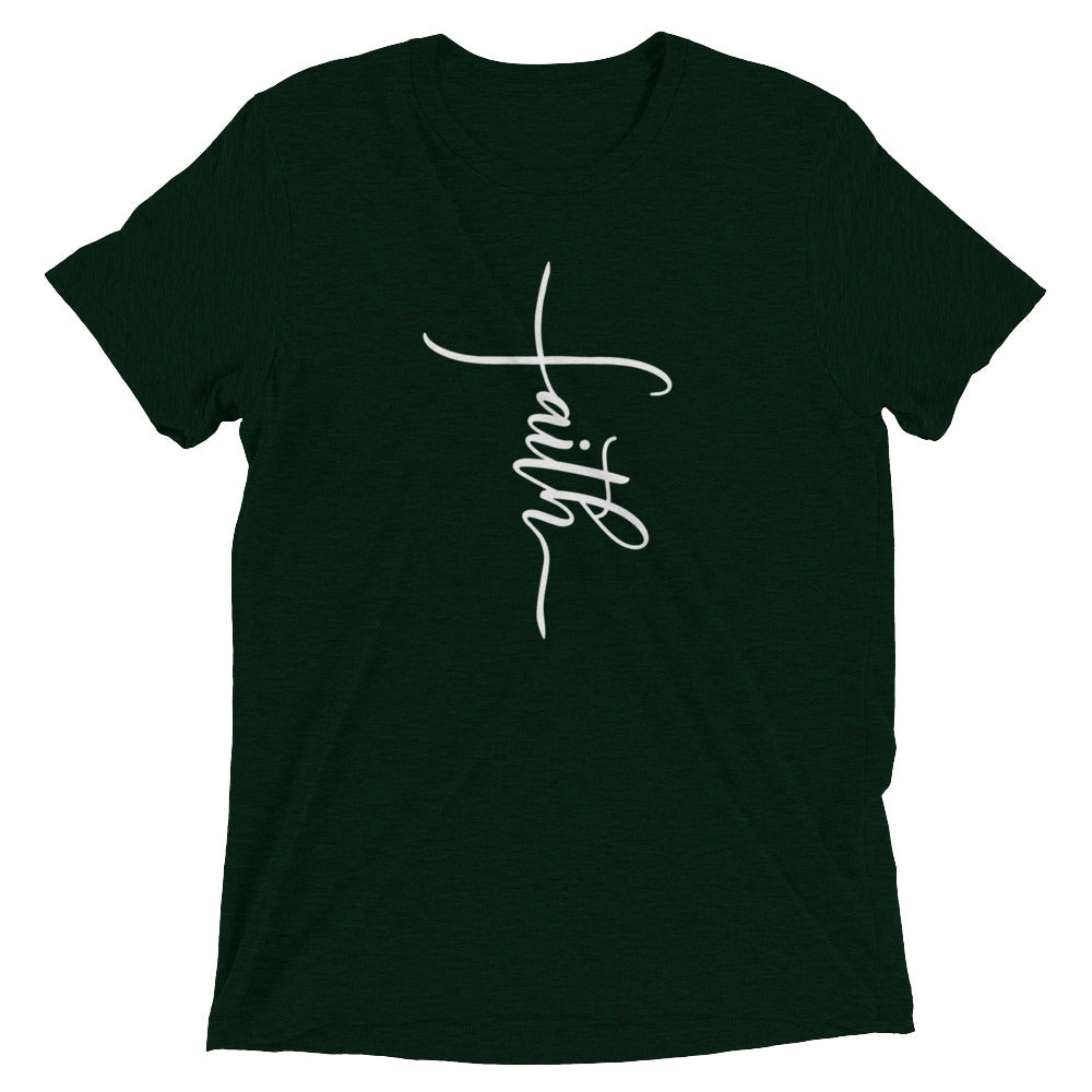 Faith Cross Tri-Blend T-Shirt