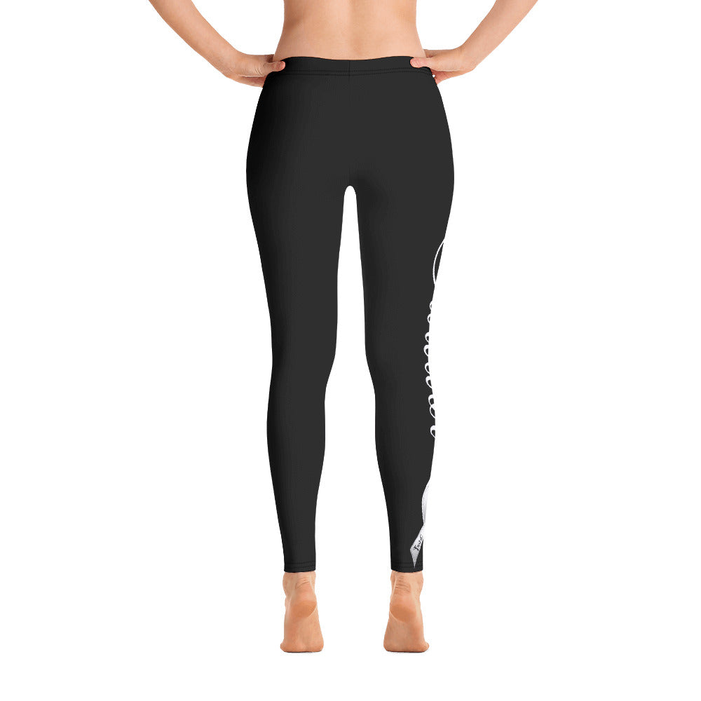 "Lung Cancer ""Survivor"" Full Length Leggings (Black)"