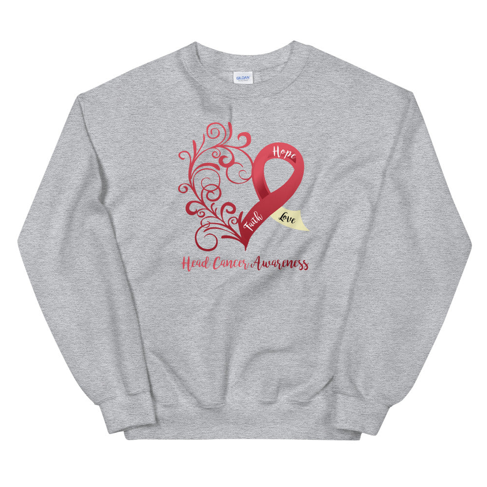 Head Cancer Awareness Sweatshirt (Several Colors Available)