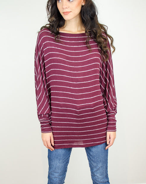 35eb48c38 Slouchy Striped Long Sleeve Knit
