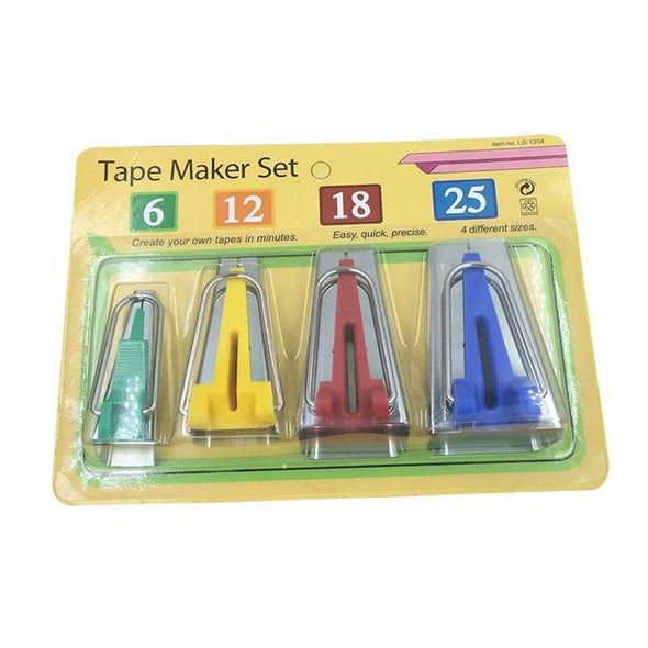 Sewing Bias Tape Makers (Set of 4 Sizes)